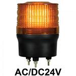 LED回転灯 ニコトーチ Φ90 AC/DC24V 黄 規格:3点留 機能:回転 (入力制御無し) (VL09R-024NY)