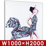 テンションファブリック(ファブリックフレーム) 壁面タイプ W1000×H2000 片面D80㎜ エッジライト式LED