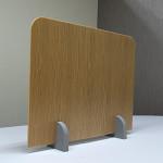 5枚入 飛沫感染対策仕切りパーテーション スチレンボード製 ミラボードSP 脚付(大)型 茶色+木目柄
