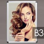 PGライトLEDスリム PG-32Rモデル(LED) B3サイズ R型 屋内用 カラー(仕様):梨地調シルバー(壁掛用) (PGL-32R-B3-SM-Wall)