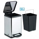 衛生容器 ペダルボックス角型14L (DS-238-614-0)