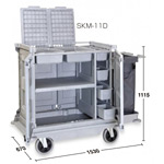 清掃用カート樹脂ハウスキーパー SKM-11D  (DS-572-211-0)