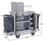 清掃用カート樹脂ハウスキーパー SKM-12D  (DS-572-212-0)