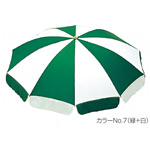 ガーデンパラソル 直径:240cm カラー:緑+白 (MZ-591-024-No.7)