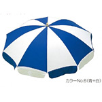 ガーデンパラソル 直径:175cm (傾斜機構付) カラー:赤+白 (MZ-591-117-No.1)