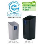 樹脂製ゴミ箱 シャン120エコ 12L用 カラー:ライトグレー (DS-203-012-8)