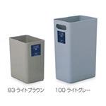 樹脂製ゴミ箱 シャン100エコ 10L用 カラー:ライトグレー (DS-218-410-8)