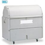集積保管用ゴミ箱 ワイドペール800 (カギ穴付) 仕様:キャスター付 (DS-221-080-5)