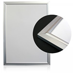 ローコスト ポスターフレーム アルミシルバー額縁 Aパネル サイズ:A3 (Lowcost-A-Panel-A3)