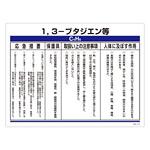 特定化学物質関係標識 450×600×1mm 表記:1,3-ブタジエン等 (035314)