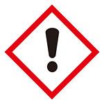 化学物質関係標識 GHSラベル 感嘆符 5枚入り サイズ: (大) ◇一辺/150mm (037107)