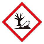 化学物質関係標識 GHSラベル 環境 5枚入り サイズ: (大) ◇一辺/150mm (037108)