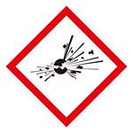 化学物質関係標識 GHSラベル 爆弾の爆発 5枚入り サイズ: (中) ◇一辺/70mm (037203)