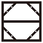 300×600mm明治山型標識用 連結掲示用スチール枠 スライドアングル KHY-2SA 610×605mm (55200)