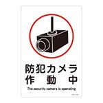 標識 防犯カメラ作動中 450×300 (094110)