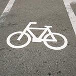路面標示テープ 自転車マーク (103003)