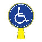 コーンヘッド標識用 表示面ステッカーのみ 285mm丸 表示:身体障害者マーク (119104)