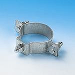 金具 道路標識ボルト止め標識板用止め金具 仕様: (60S) 60.5mmΦ片面用 (137601)