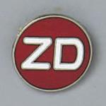 バッジ 20mm丸 表記:ZD (138208)