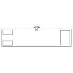 ビニール製無地腕章 (反射タイプ) カラー:反射白 (140301)