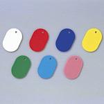 カラー小判札 無地 45×30×2.5mm (小) カラー:レッド (200014)