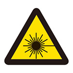 PL警告表示 (簡易タイプ) ステッカー 10枚1組 レーザー光線 サイズ:大 (201008)