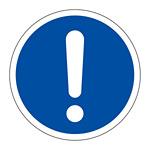 PL警告表示 (簡易タイプ) ステッカー 10枚1組 一般的「義務的行動」 サイズ:大 (201012)