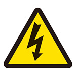 PL警告表示 (簡易タイプ) ステッカー 10枚1組 電気危険「高電圧危険」「感電注意」 サイズ:小 (203005)