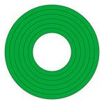 マーキングステッカー PET 100mmφ 10枚1組 カラー:緑 (208501)