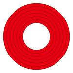 マーキングステッカー PET 100mmφ 10枚1組 カラー:赤 (208503)