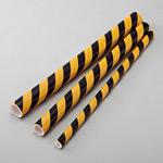 トラクッション トラパイプ (無反射タイプ) 黄・黒 サイズ (内径×外径) :18mmφ×38mmφ (247013)
