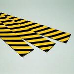 トラクッション 平板タイプ (無反射) 黄・黒 サイズ:100×1000×5mm (247040)