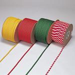 カラーロープ 12mmφ×1m カラー:赤・白 (283065)