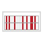 名札ケース 回転ネーム表示盤 仕様:50人用・部署札 (青/青) 4枚付 (303012)