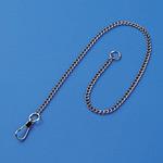 鎖 鉄クロームメッキ 10本1組 サイズ:3mm幅×300mm (308010)