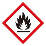 化学物質関係標識 GHSラベル 炎 5枚入り サイズ: (大) ◇一辺/150mm (037101)