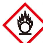化学物質関係標識 GHSラベル 円上の炎 5枚入り サイズ: (小) ◇一辺/40mm (037302)