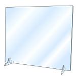 飛沫感染防止 卓上アクリルパーテーション W600×H500 窓なし (380397)