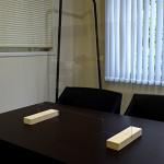 木製脚 飛沫防止透明PETパネル W600×H510