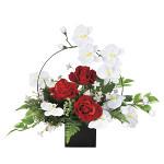 【2019年新商品】ホワイトモダン (造花) 高さ45cm 光触媒 (921A80)