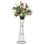 【2019年新商品】【送料無料】スカーレットローズスタンドM (造花) 高さ116cm 光触媒 (925A200)