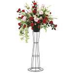 【2019年新商品】【送料無料】スカーレットローズスタンド (造花) 高さ120cm 光触媒 (927A350)