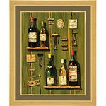 アートポスター 「フレンチ ワイン 2」 F・ビルヌーブ作