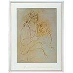 アートポスター 「オルガと息子」 パブロ・ピカソ作