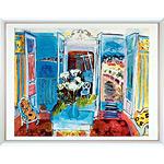 アートポスター 「開いた窓のある室内」 R・デュフィ作