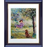 アートポスター 「庭のブランコ」 リベイリー作