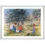 アートポスター 「リンゴの収穫」 リベイリー作