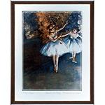 アートポスター 「舞台上の二人の踊り子」 E・ドガ作