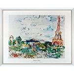 アートポスター 「エッフェル タワー」 R・デュフィ作