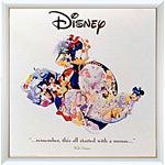 アートポスター 「イット オール スターティッド ウィズ ア マウス」 ディズニーシリーズ作